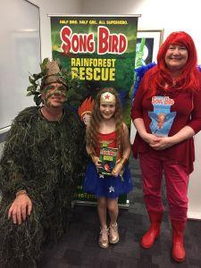 Song Bird, Tree Man, and Wonder Girl