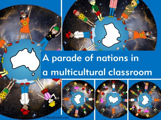 celebrating diversity in a multi-cultural classroom: a parade of nations