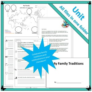 family traditions and celebrations a unit of work for the first three years of school