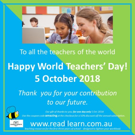 Happy World Teachers' Day discount subscription