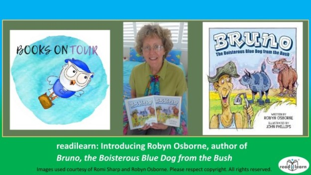 interview with Robyn Osborne author of Bruno the Boisterous Blue Dog of the Bush