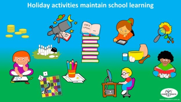holiday activities maintain school learning in literacy and mathematics