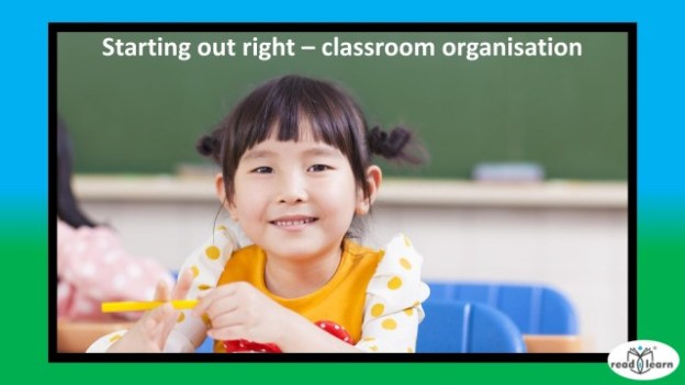 ideas to start the year off right with classroom organisation