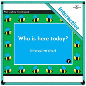 an interactive attendance chart to show who is at school today