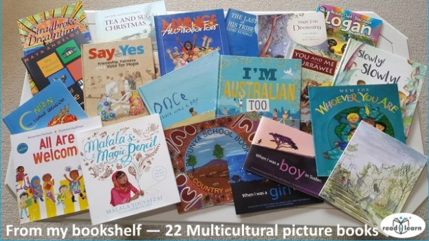 a selection of multicultural picture books