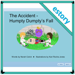 The accident - an innovation on the nursery rhyme Humpty Dumpty