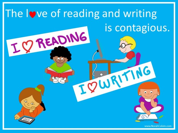 the love of reading and writing is contagious