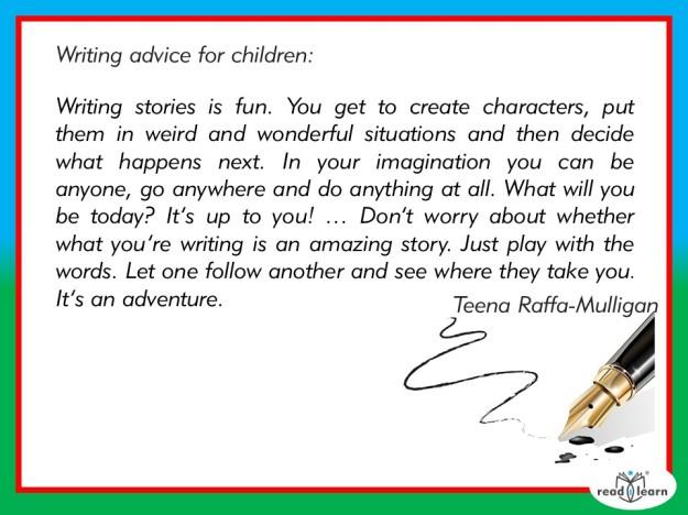 Teena Raffa-Mulligan's advice for children as writers