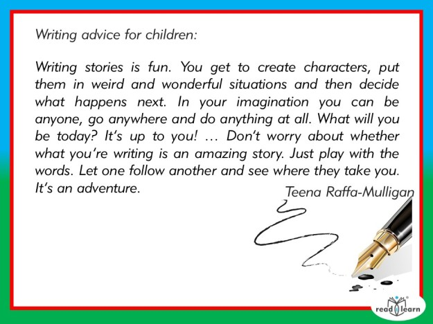 Teena Raffa-Mulligan's advice for children as writers