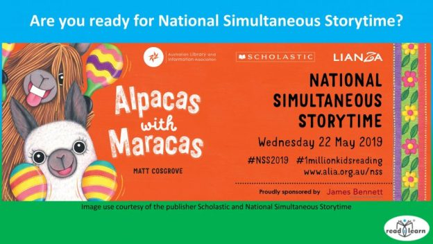 Getting ready for National Simultaneous Storytime