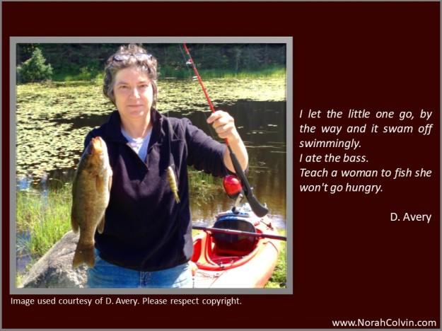 D. Avery, writer, fisherwoman