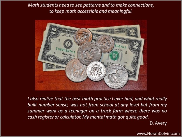 D. Avery: maths should be accessible and meaningful