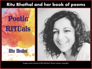 Ritu Bhathal and her book of poetry