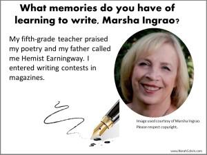 Marsha Ingrao on writing