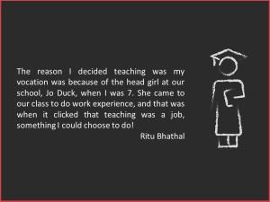 Ritu Bhathal decides to be a teacher