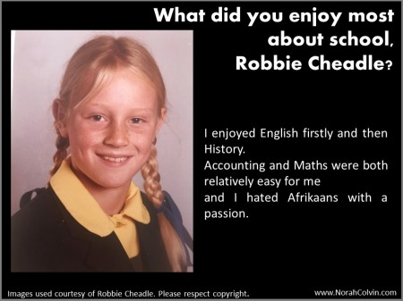 Robbie Cheadle discusses what she liked best about school