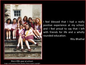 Ritu Bhathal discusses her well-rounded education