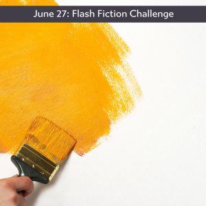 Carrot Ranch flash fiction challenge - painting