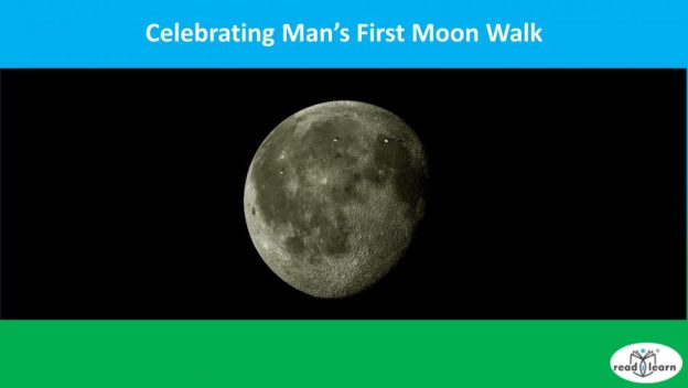 celebrating man's first moon walk