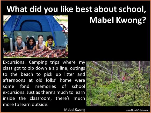 Mabel Kwong school days reminiscences