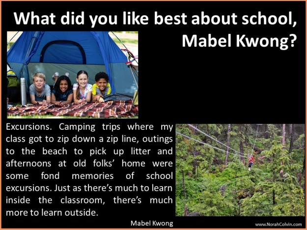 Mabel Kwong school days reminiscences