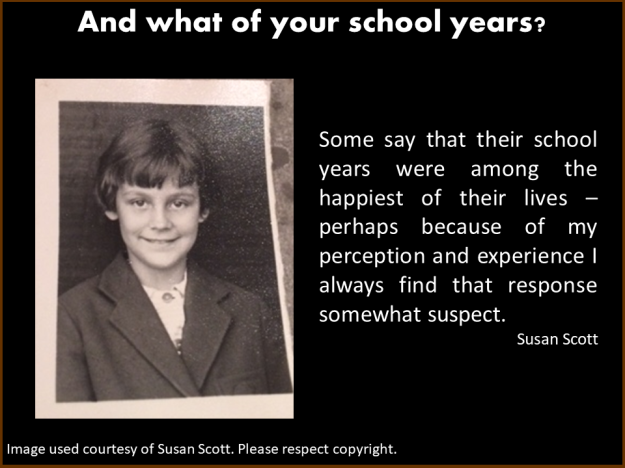 School days, reminiscences of Susan Scott