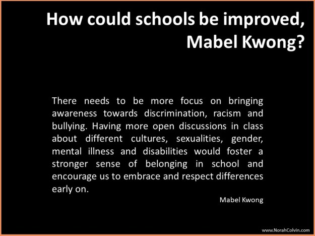 Mabel Kwong on how schools could be improved