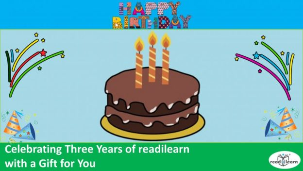 celebrating three years of readilearn