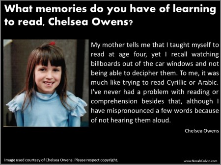 Chelsea Owens School Days Reminiscences