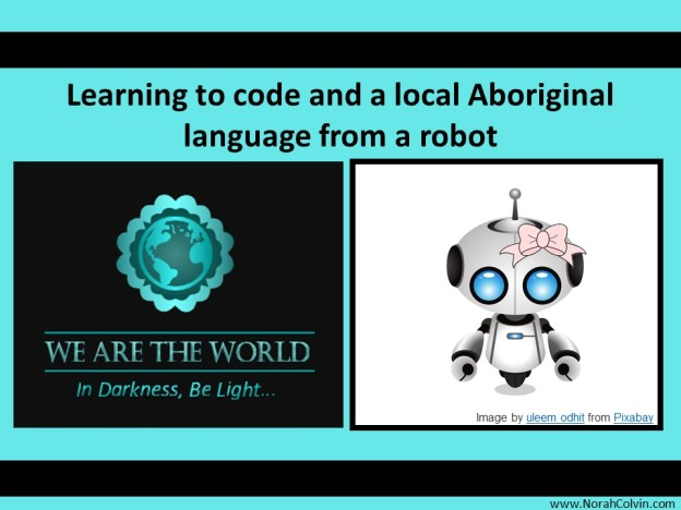 Learning to code and a local Aboriginal language