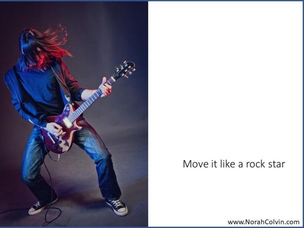 Move it like a rock star flash fiction