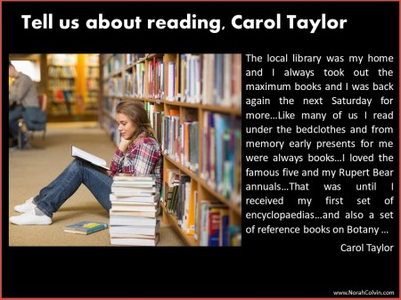 Carol Taylor explains her love of reading