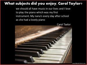Carol Taylor enjoys playing piano
