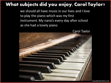Carol Taylor enjoys playing piano