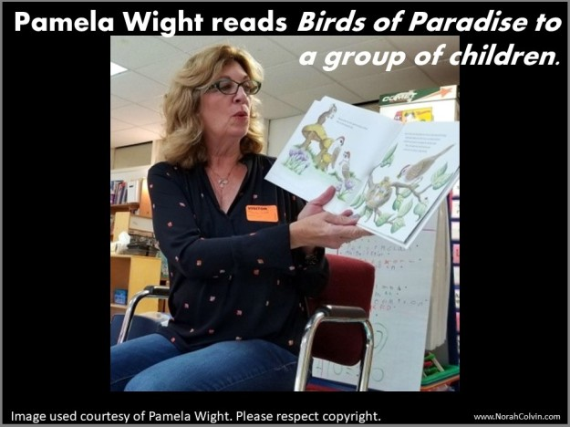 Pamela Wight reading Birds of Paradise to children