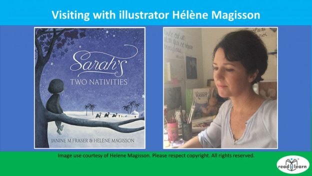 visiting with illustrator Helene Magisson