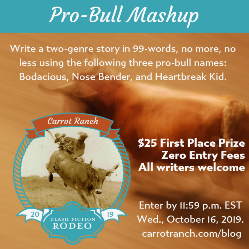 Pro-Bull Mashup Carrot Ranch flash fiction contest