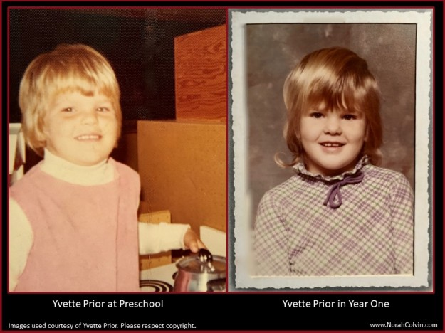Yvette Prior early school days