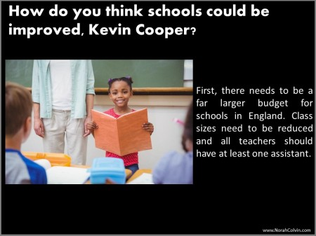 Kevin Cooper school days reminiscences