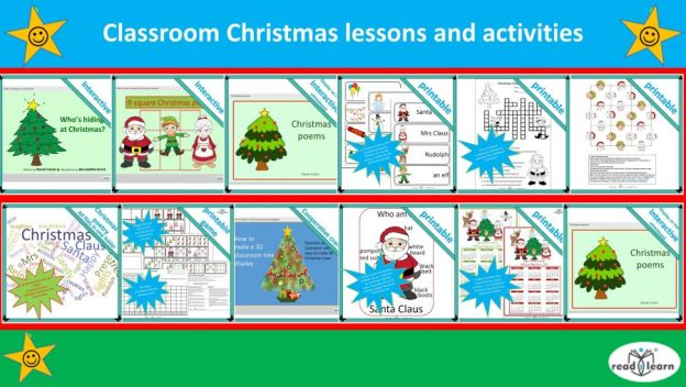 classroom Christmas lessons and activities