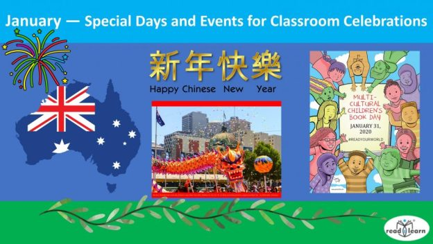 January - special days and celebrations for the classroom