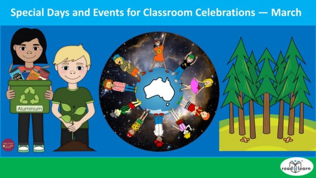 special days and events to celebrate in the classroom in March