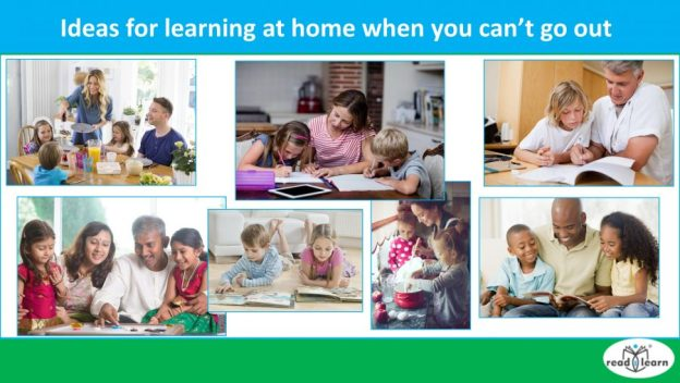 ideas for learning at home when you can't go out