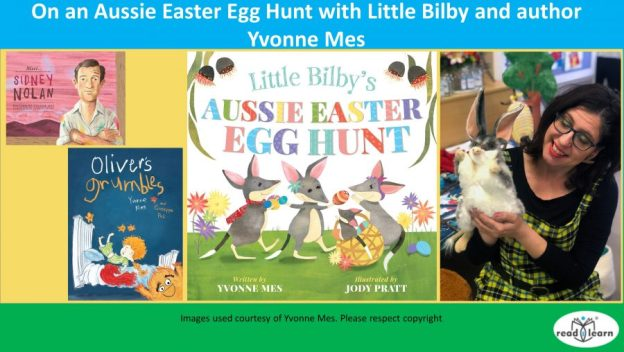 On an Aussie Easter Egg Hunt with Little Bilby and Yvonne Mes