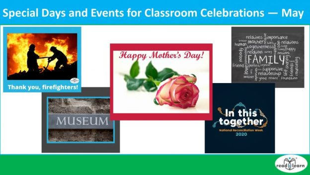May - special days and events to celebrate in the classroom