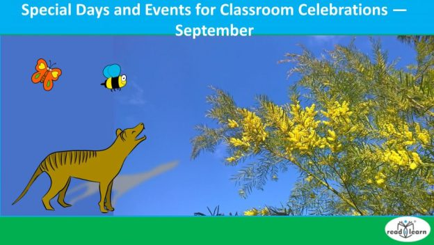 special days and events for classroom celebrations in September