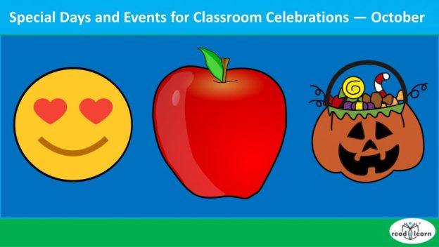 special days and events for classroom celebrations - October