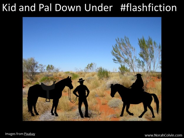 Kid and Pal Down Under Flash Fiction